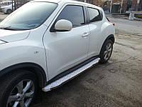 Nissan Juke 2010+ гг. Боковые площадки WhiteLine (2 шт., алюминий)