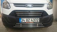 Ford Custom 2013+ гг. Цельная нижняя решетка (нерж)