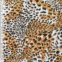 Велюр рудий принт леопард ш.150 (21615.001)