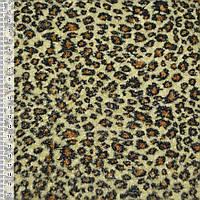 Велюр світло-жовтий принт леопард ш.150 (21615.003)
