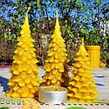 """Новогодняя восковая свеча """"Ёлочка"""" из натурального пчелиного воска, фото 8"""