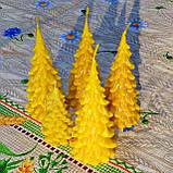 """Новогодняя восковая свеча """"Ёлочка"""" из натурального пчелиного воска, фото 9"""