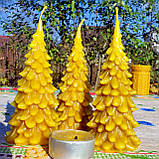 """Новогодняя восковая свеча """"Ёлочка"""" из натурального пчелиного воска, фото 4"""