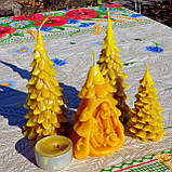 """Новогодняя восковая свеча """"Ёлочка"""" из натурального пчелиного воска, фото 10"""