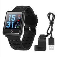 Фитнес-браслет F21 Black тонометр, пульсометр, шагомер, калории, для iPhone и Android, фото 2