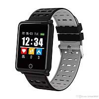 Фитнес-браслет F21 Black тонометр, пульсометр, шагомер, калории, для iPhone и Android, фото 7