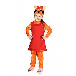Карнавальный костюм КОШЕЧКА КАРАМЕЛЬКА (ТРИ КОТА) для девочки 7,8,9,10 лет детский маскарадный костюм