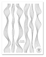 """3D наклейка для ногтей (маникюра) """"Вуаль"""" серебро"""