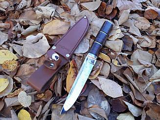 Нож Финка рукоять из наборной кожи
