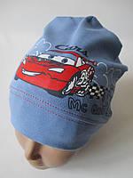 Трикотажные шапки для мальчиков с машинками., фото 1