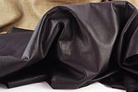 Кожа одежная с винтажным эффектом черная