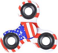 Спиннер TOTO Plastic Print American Flag Хенд спиннер для рук пластиковый флаг США!
