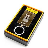 🔝 Электрозажигалка со спиралью, BMW, Черная, юсб зажигалка брелок, аккумуляторная | 🎁%🚚