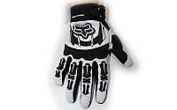 Мотоперчатки текстильные FOX M-365-BW (закр.пальцы, р-р M-XL, черный-белый)