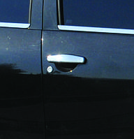 Nissan Terrano 2014+ гг. Накладки на ручки (4 шт, нерж)
