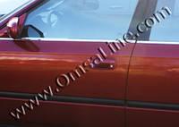 Honda Civic Sedan VII 2001-2006 гг. Наружняя окантовка стекол (6 шт, нерж)