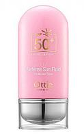 Сонцезахисний крем-флюїд Ottie UV Defense Sun Fluid (SPF50+PA+++) Waterless Type 50 мл, фото 1