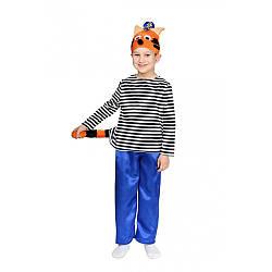 Карнавальный костюм КОТ КОРЖИК (ТРИ КОТА) для мальчика 5,6,7,8,9 лет детский маскарадный костюм