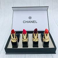 Набор помад 4 шт Chanel Rouge Coco (Шанель Коко)