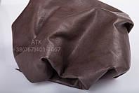 Натуральная кожа для одежды Bruschetta темно-коричневая