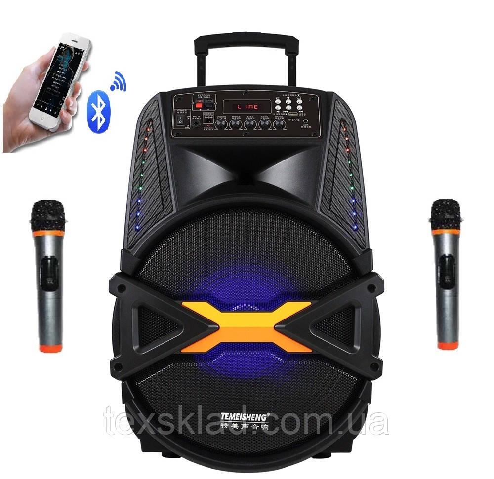 Портативна колонка A15-41 з радіомікрофонами (USB/Bluetooth)