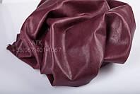 Натуральная кожа для одежды Bruschetta бордовая