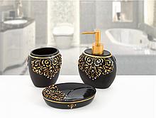 Комплект у ванну Irya - Flossy чорний (3 предмета)