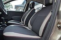 Dacia Sandero 2007-2013 гг. Авточехлы Экокожа+ткань