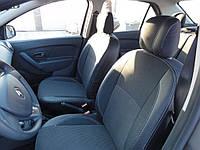 Dacia Logan III 2013+ гг. Авточехлы Экокожа+Ткань