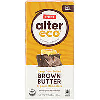 Шоколад с соленым темным маслом, Chocolate, Alter Eco, 80 г