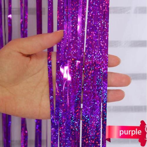 Дождик фиолетовый с супер голограммой (высота 4 метра, ширина 1метр)