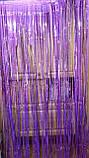 Дождик фиолетовый с супер голограммой (высота 4 метра, ширина 1метр), фото 2