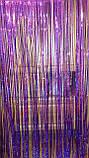 Дождик фиолетовый с супер голограммой (высота 4 метра, ширина 1метр), фото 3