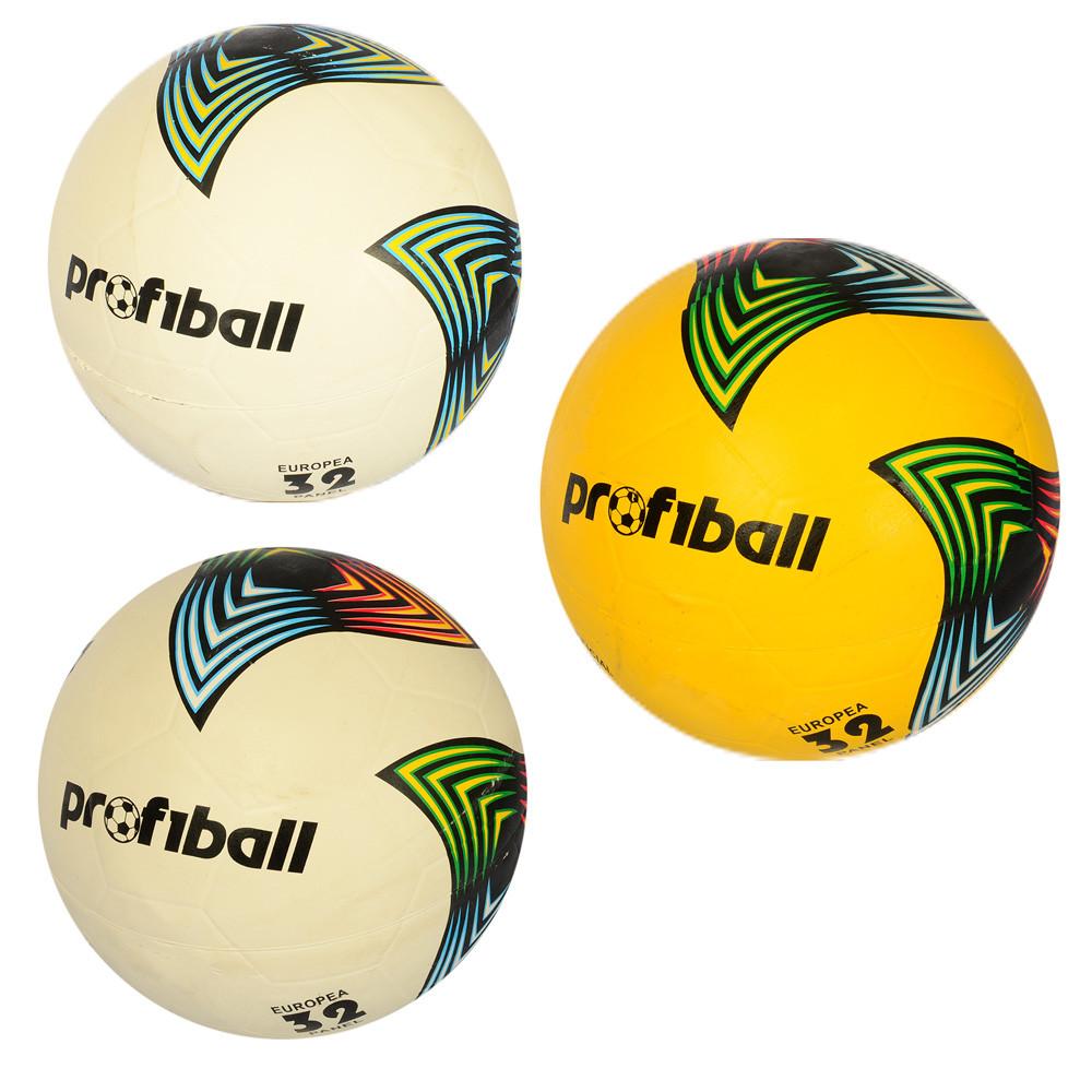 Мяч футбольный, размер 5, резина, гладкий, 380*400г, 3 цвета, VA-0046