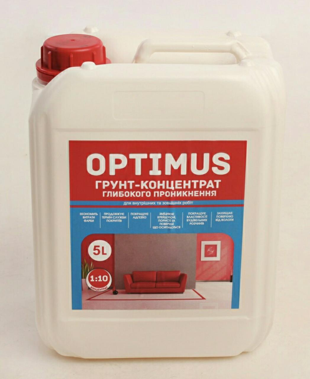 Нанофарб Optimus грунт-концентрат - 5 л