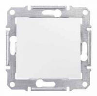 Кнопочный выключатель 1- кл белый Sedna SDN0700121