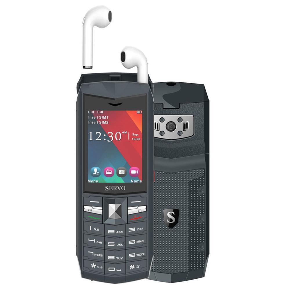 Мобильный телефон Servo R26 Gray 2.4'' 3000 мАч Power Bank TWS True Wireless Bluetooth 5.0