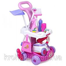 Детский набор для уборки Limo Toy A5938: тележка на колесах, пылесос 19*12,5 см звук, батар., фото 3