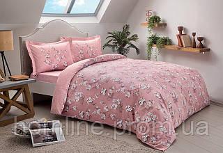 Постельное белье Tac сатин Lennie pembe v02 розовый семейное