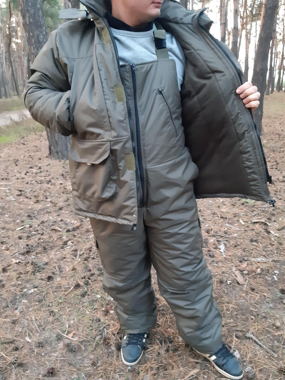 Зимний костюм для рыбалки и охоты Таслан олива