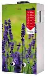 Колонка газовая проточная Акватерм JSD20-AG108 10 л стекло (цветок)