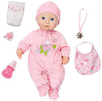 Интерактивная кукла Baby Annabell Настоящая малютка 43 см 10 версия Baby Born Annabell Doll Zapf