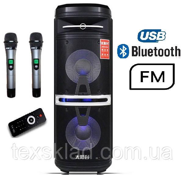 Портативная акустика TS210-05 /250W  (USB/FM/Bluetooth/Пульт ДУ)