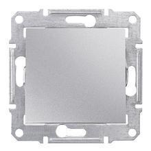 Кнопочный выключатель 1- кл Алюминий Sedna SDN0700160