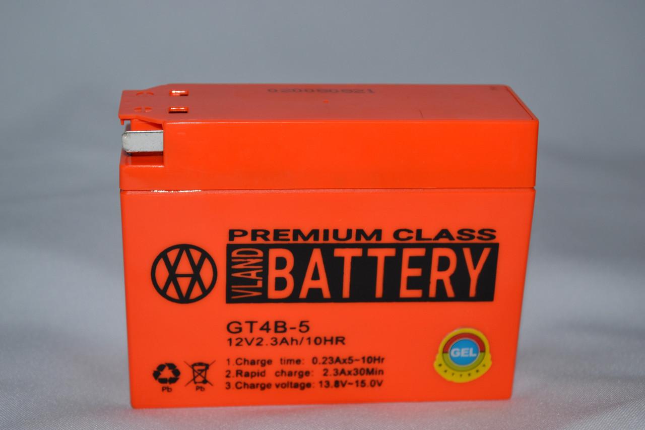 Аккумулятор 12V 2,3Ah гелевый (113х39х87) GT4B-5 ( оранжевый ) BATTERY