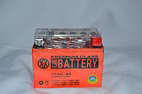 Аккумулятор 12V 4Ah гелевый (113х70х85) YTX4L-BS ( оранжевый ) BATTERY