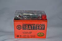 Аккумулятор 12V 4Ah гелевый с датчиком (113х70х85) UTX4L-BS ( оранжевый ) BATTERY