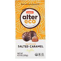 Alter Eco, Органические соленые трюфели с карамелью, темный шоколад, 4,2 унции (120 г)
