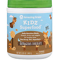Amazing Grass, Kidz Superfood, неистовый вкус шоколада, 180 г