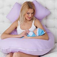 Подушка для беременных и кормящих мам, подкова, П-образная, детей, ортопедическая, кормления, Розовая, Pink